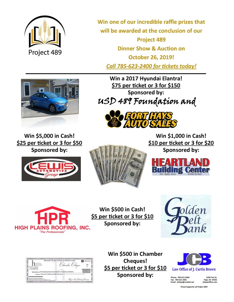 2nd Annual Project 489 Dinner Show & Auction