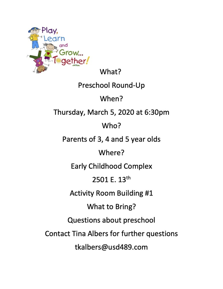Preschool Round-Up Information