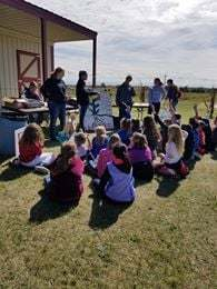 Students learning at Ag Day